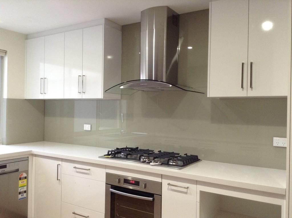 Neutral Coloured Glass Splashbacks Perth Kitchen Design Ideas