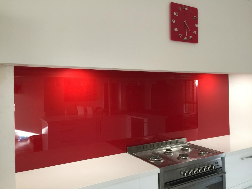 Red Splashbacks Perth | Red Kitchen Splashbacks | Red Glass