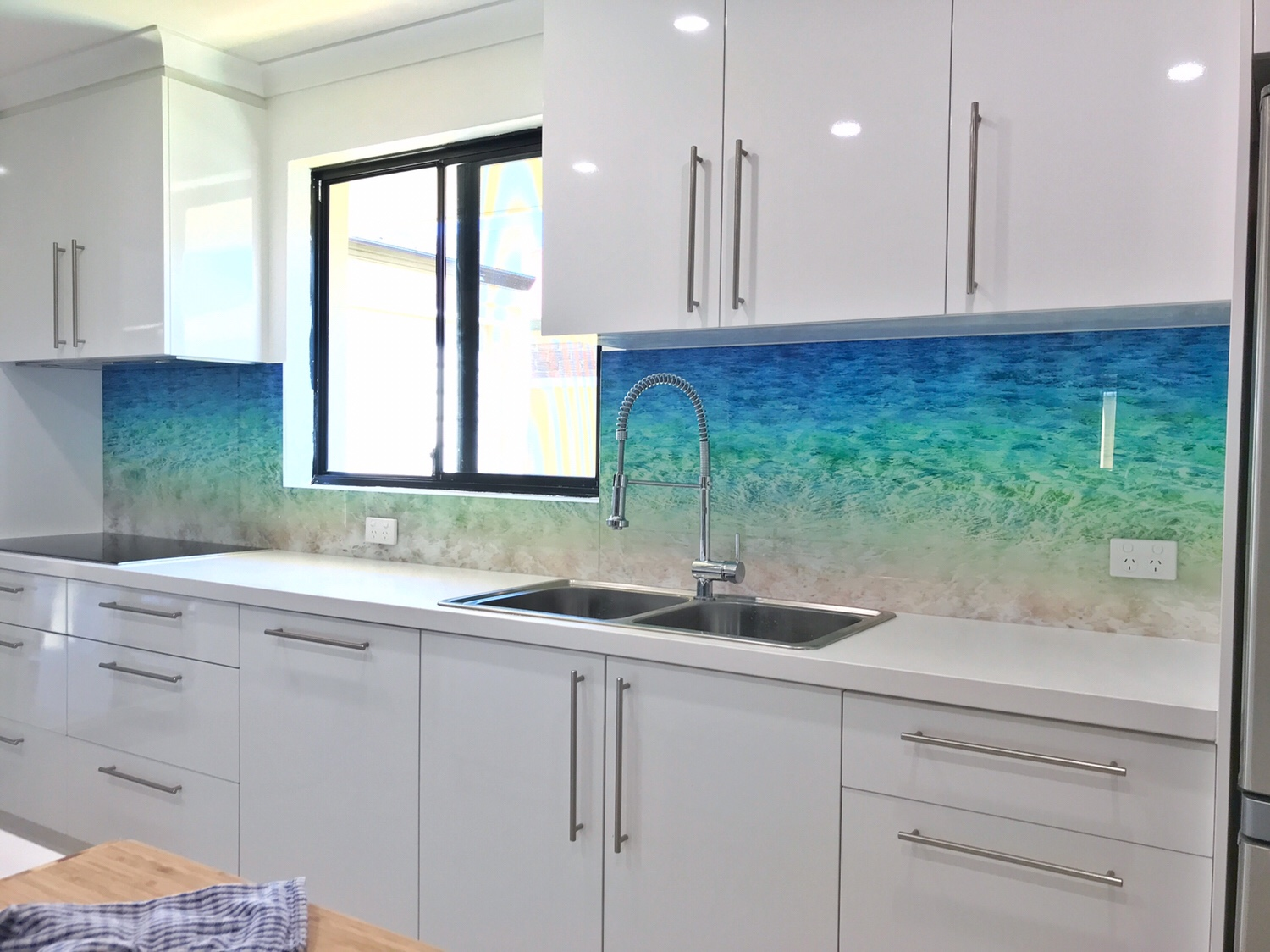 Sea Shore – Print On Glass Splashback ..