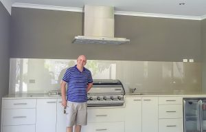 Alfresco area kitchen splashbacks