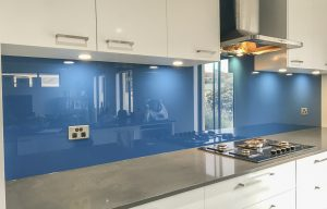 Bluebottle coloured glass splashbacks