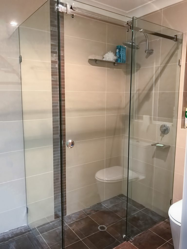 Sliding Frameless Shower Screens