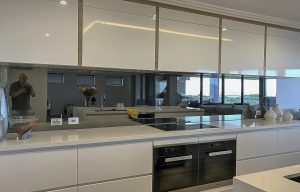 Kitchen splashbacks with tinted mirror colour
