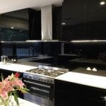 Coloured Black kitchen splashbacks