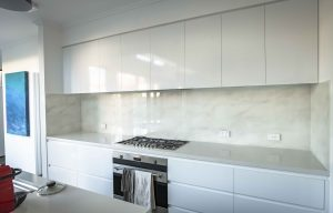 Printed kitchen glass splashbacks in Marble effects