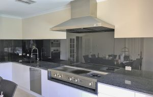 Black Coloured kitchen splashbacks