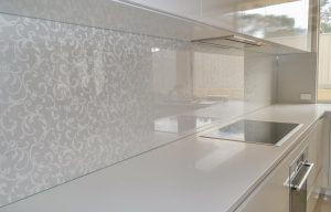 Wallpaper behind toughened glass