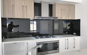 Dark Coloured kitchen splashbacks